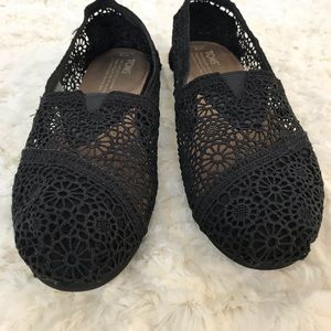 TOMS LACE LOAFER BLACK 8